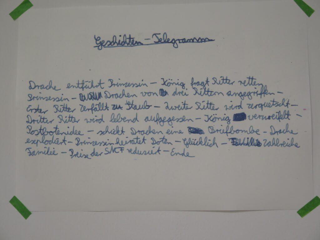 Französisch lesen und Deutsch schreiben